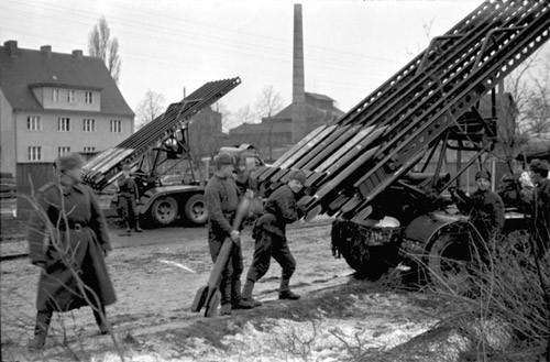 Боевая машина реактивной артиллерии БМ-13.