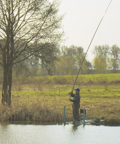 ловля на 7 метровую удочку