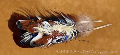Картины на перьях Сандры Сантара. Часть 2.