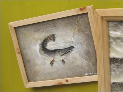 Картины из рыбьей чешуи. 13 фото.
