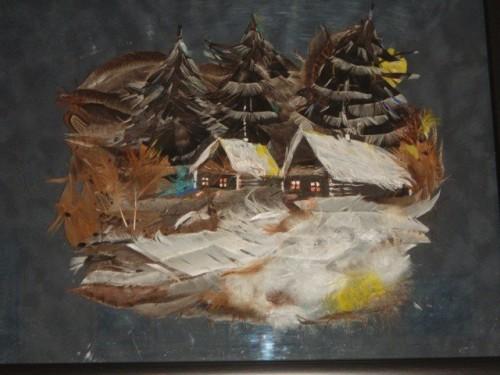 Картины из перьев. Подборка фотографий. (16 фото)