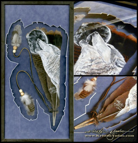 Картины на перьях Kristan Yadao. (36 фото)