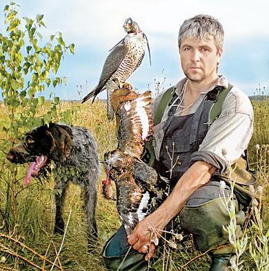 Охота на тетеревов с ловчими птицами. Часть 1.
