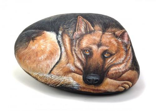 Живопись на камне от Ernestina Gallina. Часть 1. (30 фото)