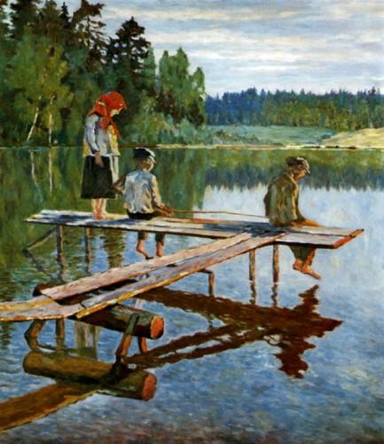 Рыбалка глазами художников. Часть 1. (30 фото)