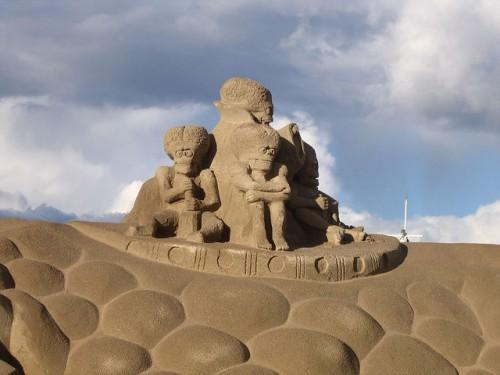 Скульптуры из песка. Часть 6. (50 фото)