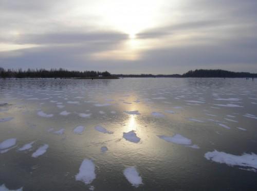 Первый лед и жор рыбы.