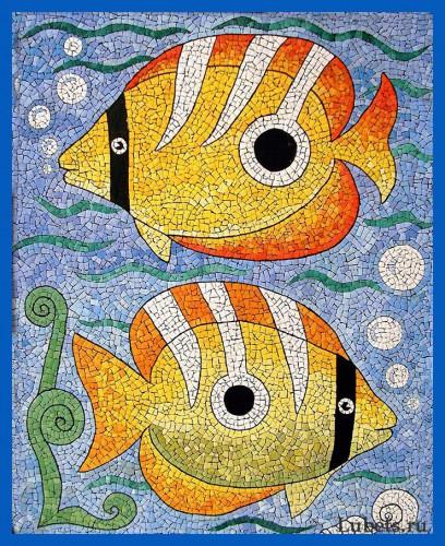 Работы Любови Мешакиной. Мозайка из яичной скорлупы . (24 фото)