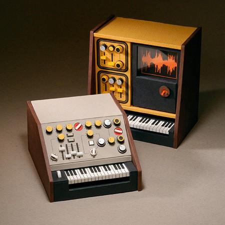 Синтезатор из картона своими руками