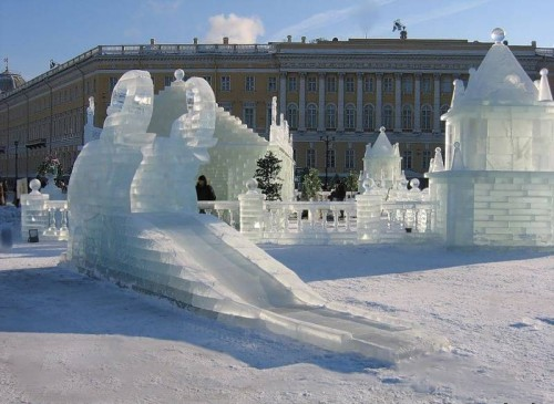 Ледовые и снежные скульптуры. (40 фото)