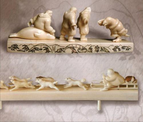 Чукотская резная кость. (9 фото)