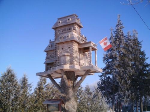 Скворечники в виде миниатюрных домов. Часть 1. (35 фото)