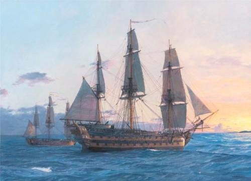 Работы художника Geoff Hunt. Парусные корабли. Часть 1. (21 фото)