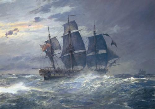 Работы художника Geoff Hunt. Корабли. Часть 2. (21 фото)