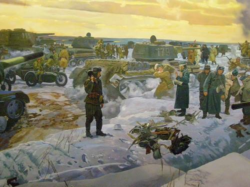 Центральный музей Великой Отечественной войны. Диорама «Соединение фронтов. Сталинград». (17 фото)