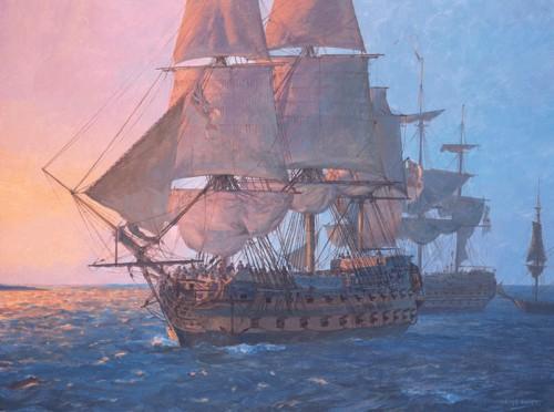 Работы художника Geoff Hunt. Корабли. Часть 3. (21 фото)