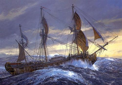 Работы художника Geoff Hunt. Корабли. Часть 4. (21 фото)