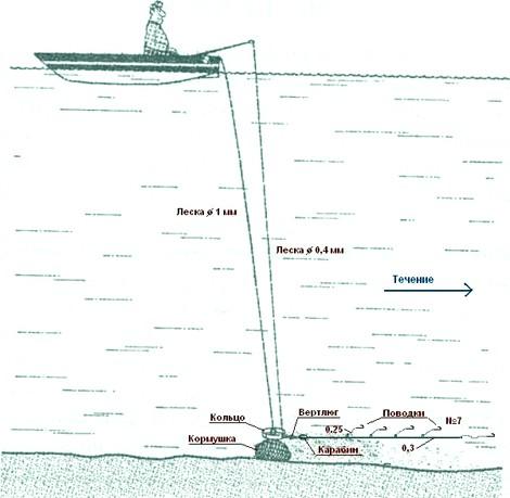 ловля леща на кольцо с лодки оснастка