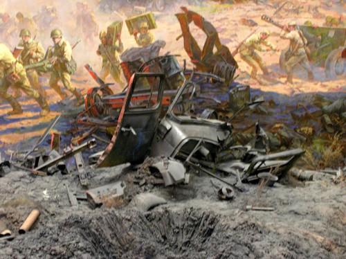 Музей-диорама «Курская битва. Белгородское направление». Часть 1. Диорама «Огненная дуга». (23 фото)