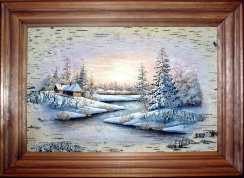 Картины на бересте Сергея Сурина. Часть 2. (30 фото)