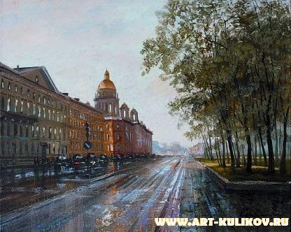 Работы художника Владимира Куликова. Городской пейзаж. Часть 3. (33 фото)