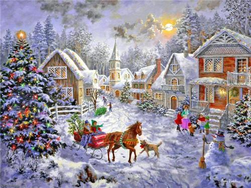 Новогоднее настроение от художницы Nicky Boehme. (21 фото)