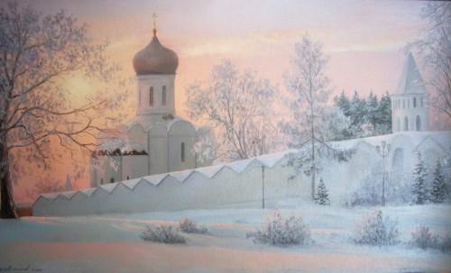 Работы художника Михайлова Игоря. Зимние пейзажи. (10 фото)