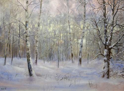 Работы художника Дорофеева Сергея. Зимние пейзажи. (14 фото)