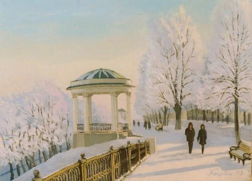 Зима на полотнах художников. Часть 2. (20 фото)