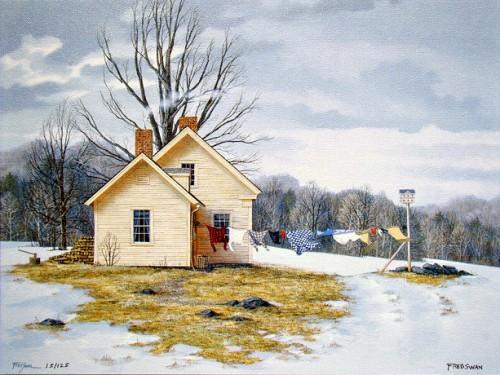 Зимние пейзажи от Fred Swan. Часть 1. (20 фото)