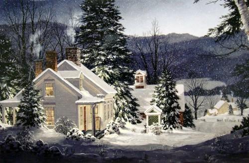 Зимние пейзажи от Fred Swan. Часть 2. (19 фото)