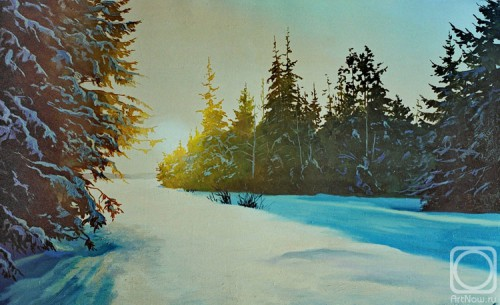 Работы художника Самохвалова Александра Порфирьевича. Зимние пейзажи. Часть 2. (30 фото)