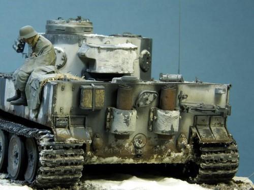 "Работа Алексея Груздева. Pz. Kpfw. VI Ausf. E или ""Замерзший Тигр"". (10 фото)"