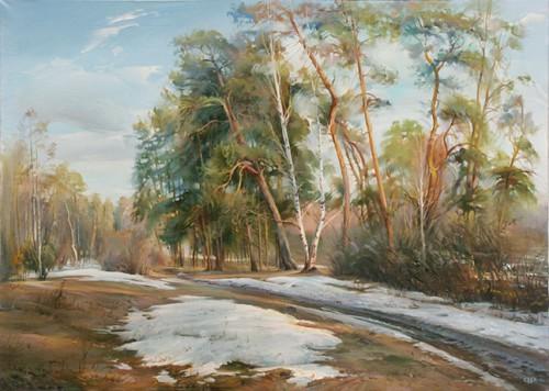Работы художника Романа Романова. Весенние пейзажи. (8 фото)