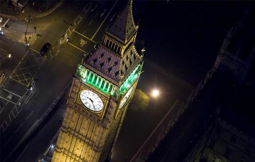 Ночной Лондон – вид сверху. Часть 1. (19 фото)