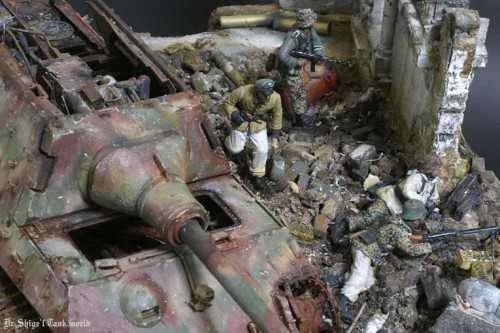 "Работа Shigeyuki Mizuno. ""Танк Ягдтигр (Jagdtiger)"". (16 фото)"