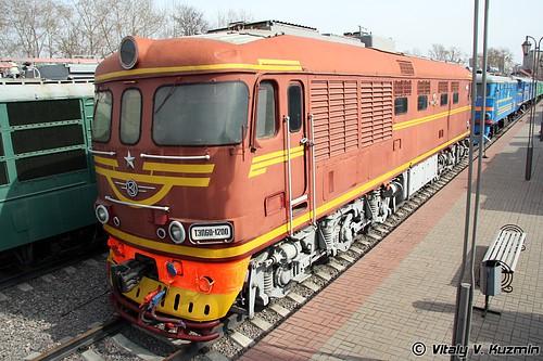 Музей истории железнодорожной техники Московской железной дороги (МЖД). Часть 2. Тепловозы и электровозы. (39 фото)