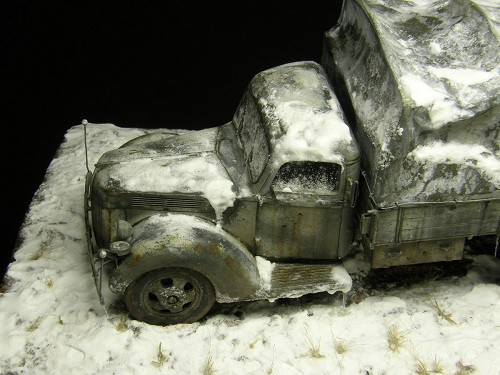 Работа Алексея Груздева. Немецкий армейский грузовик Ford V3000S. (7 фото)