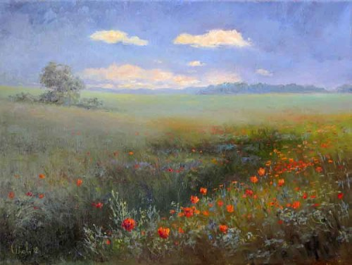 Работы художника Малярчука Станислава. Летние пейзажи. Часть 1. (33 фото)