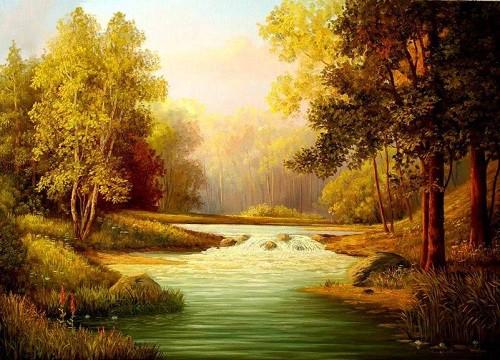 Работы художника Михайлова Игоря. Осенние пейзажи. (19 фото)
