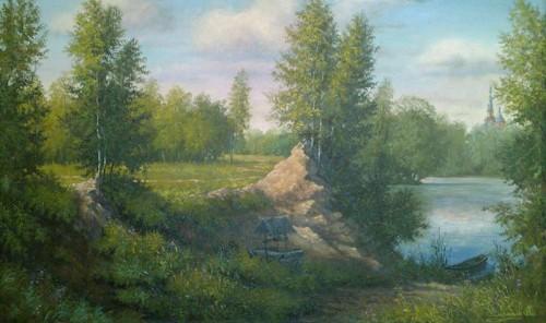 Картинка березовая роща осень лес свет солнца