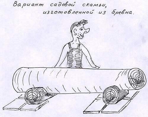 Лавка из бревна своими руками чертежи и размеры схемы 83
