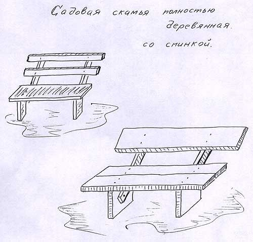 Рисунок на скамейке своими руками 32