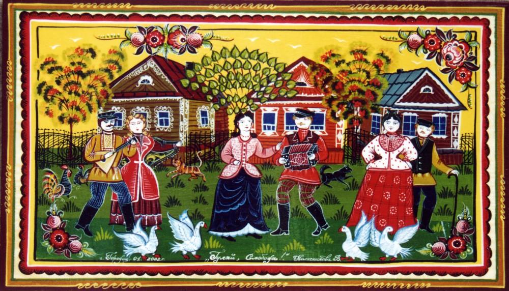 Городецкая роспись картинки цветов 7
