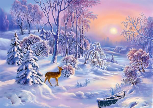 Работы художника Виктора Захаровича Цыганова. Зимние пейзажи. (18 фото)