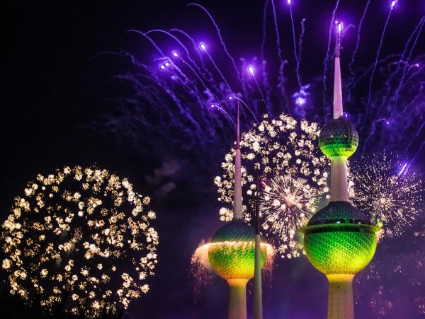 Грандиозный фейерверк в Кувейте - новый рекорд в книге Гиннесса. (80 фото)