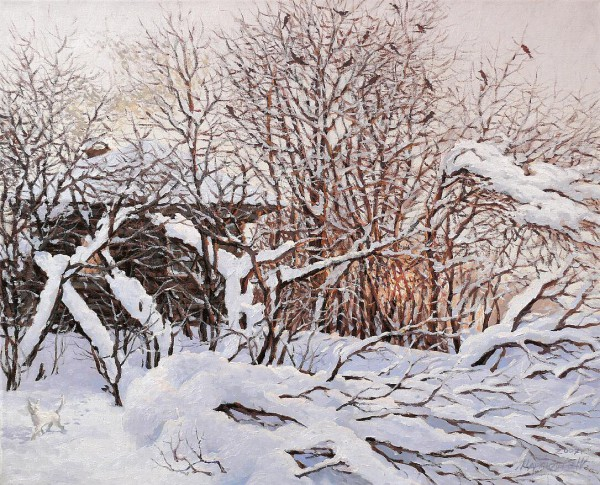 Работы художника Мартюшева Юрия Вячеславовича. Зимние пейзажи. (10 фото)