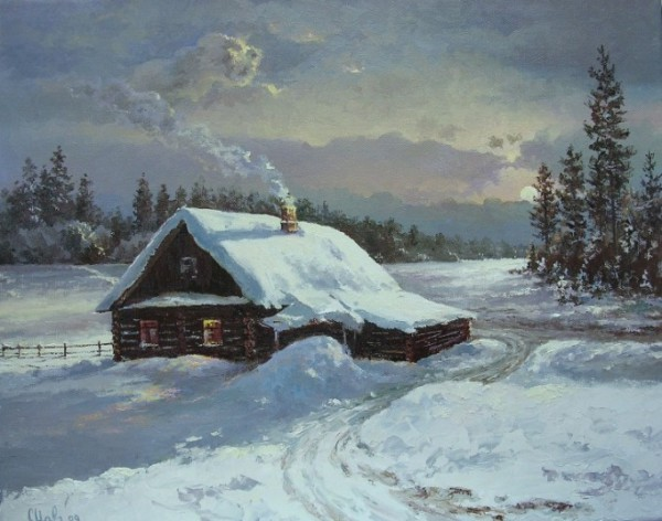 Работы художника Малярчука Станислава. Зимние пейзажи. (12 фото)