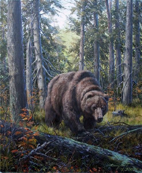 """Оригинал схемы вышивки  """"Медведь """" ."""