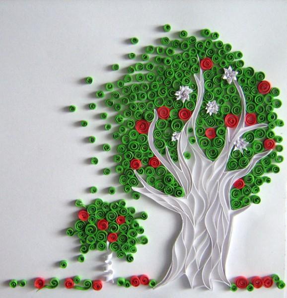 Оригинальные работы в технике квиллинг от Юлии Бродской. (60 фото)